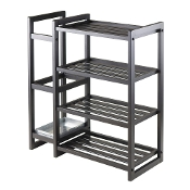 Isabel Shoe Rack with Umbrella Stand and Tray Black Finish