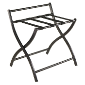 Legrand Luggage Rack, Folding Black Finish