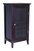 Ryan Wine Cabinet 16-Bottle, Glass Rack, One Door