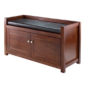 2-Pc Hall Storage Bench with Cushion Seat