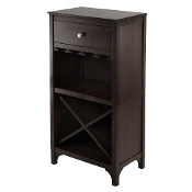 Ancona Modular Wine Cabinet with One Drawer, Glass Rack, X Shelf