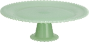 Green Glass Cupcake Stand