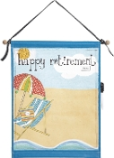 Transpac Autographable Happy Retirement Wall Art