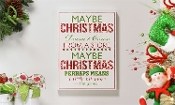 MDF Holiday Sentiment Design Wall Plaque