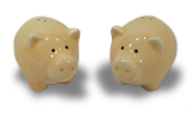 Two Little Piggies: Ceramic Salt & Pepper Shaker Set
