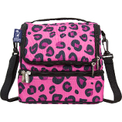 Pink Leopard Double Decker Lunch Bag