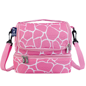 Pink Giraffe Double Decker Lunch Bag