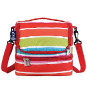 Bright Stripes Double Decker Lunch Bag