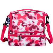 Camo Pink Double Decker Lunch Bag