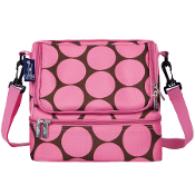Big Dot Pink Double Decker Lunch Bag