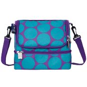 Big Dot Aqua Double Decker Lunch Bag