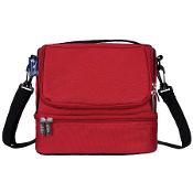 Cardinal Red Double Decker Lunch Bag