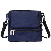 Whale Blue Double Decker Lunch Bag