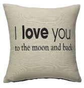 Ganz 'I Love You To The Moon' Pillow