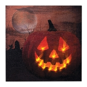 Jack O Lantern Canvas Radiance Lighted Wall Art