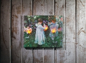 """Lanterns"" Battery Operated LED Lighted Canvas"