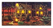 Lighted Campfire Memories Canvas Wall Art