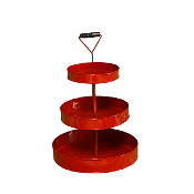 Red Three Tiered Serving Stand