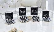 Porcelain Pet Lover Design Mug & Coaster Set