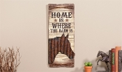 "Western Sign w/ Horse Design ""Home is Where the Barn Is"""