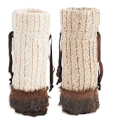 Cable Knit Fur Trimmed Wine Bags (2 colors)