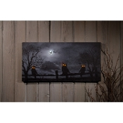 "Ohio Wholesale Owloween Night Lighted Canvas 12"" x 24"""