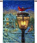 We're Home Cardinal Fiber Optic Lighted Tapestry