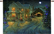 Country Home Cardinal Fiber Optic Lighted Tapestry