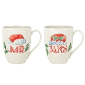 Home for The Holidays Mr. and Mrs. Mug Set
