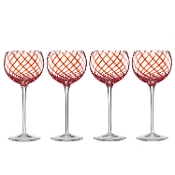 Holiday Jewel Balloons Wine Glasses, Set of 4