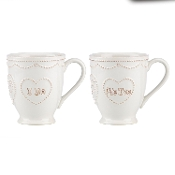 "French ""Perle I Do, Me Too"" Mug Set"