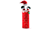 Santa in a Chimney Wine Bottle Bag
