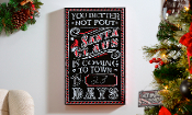 Santa is Coming to Town, Chalkboard Wall Sign