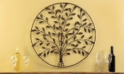 Antique Rustic Brown Iron Tree of Life Wall Décor