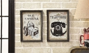 Vintage Icon Design Wall Decor, Choice of Two Designs