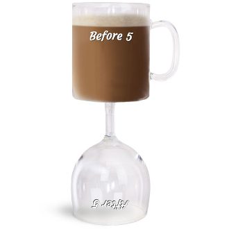 Before and After 5 Coffee And Wine Glass