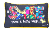 Romero Britto, A Smile Goes A Long Way, Pillow