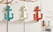 Colorful Anchor Design Wall Hooks, Choice of Three Colors