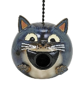 Nature's Garden Cat Bird House, Grey