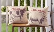 "20"" Square Polyester Farm Animals Pillow, Sold Separately"