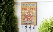 Welcome To Our Firepit, Hooked Wall Sign