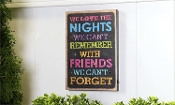 Friends We Can't Forget, Lighted Wall Sign