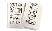 Mr. and Mrs. Co. Cotton Kitchen Towel, Dont Go Bacon My Heart