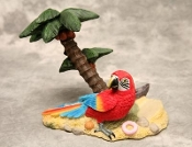 Parrot and Palm Tree Wine Bottle Holder