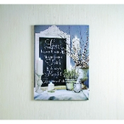 Lighted Love Never Ends Stretched Canvas Painting