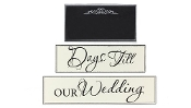 Young's Wood Wedding Countdown Table Top, 10.5""