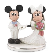 Lenox Mickey and Minnie Cake Topper Figurine with Gold Accents