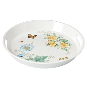 Butterfly Meadow Melamine Round Handled Tray, Large