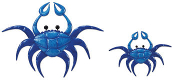 Blue Crab Wall Decoration, 2 Piece Set