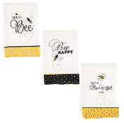 Bee Themed Kitchen Towels, Three Different Designs